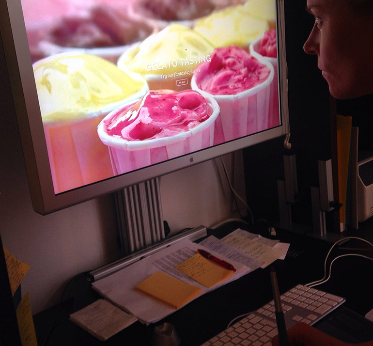 Monroe Design gör webbdesign åt StikkiNikki gelato i Stockholm