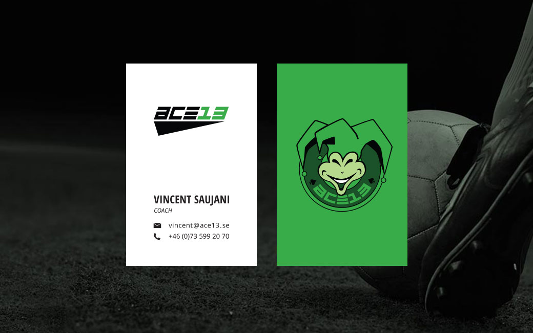 Soccer logotype design • Ace13 • Stockholm • MONROE DESIGN AB