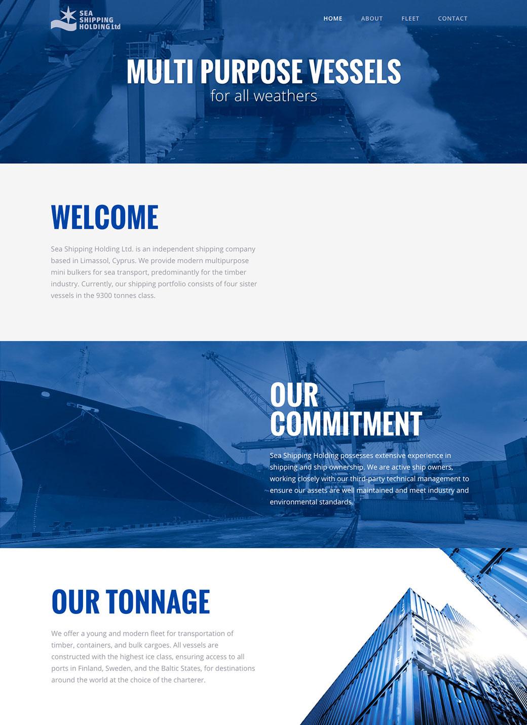 Web design • Sea Shipping Holding • MONROE DESIGN AB