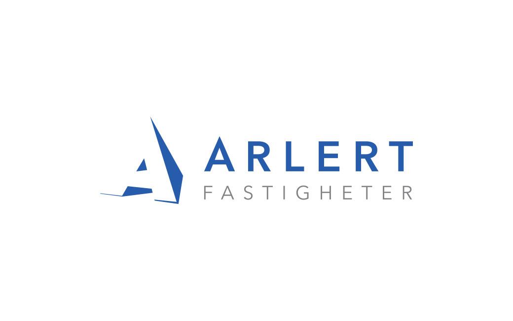 Logotyp fastighetsbolag Stockholm - Arlert Fastigheter - MONROE DESIGN AB