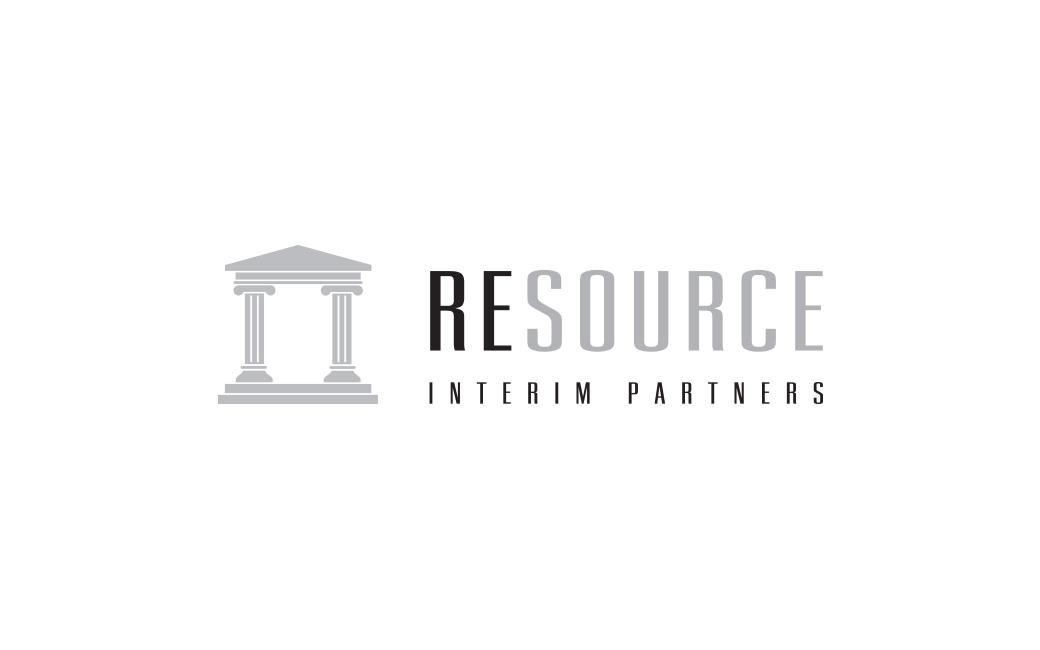 Logotyp design i Stockholm åt bemanningsföretag - Resource Interim Partners - av MONROE DESIGN AB
