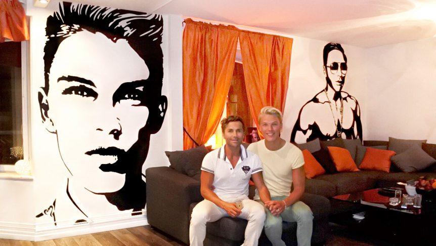 Bobby Oduncus väggdekor kärleksgåva till sin kille Jimi Bennet - MONROE DESIGN