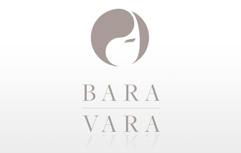 Stilren logotyp design frisör Bara Vara - MONROE DESIGN i Stockholm