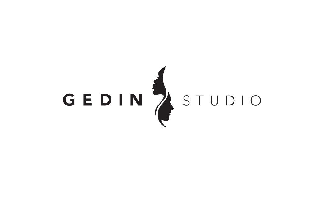 Skönhetssalong logotyp i Stockholm - Gedin Studio - MONROE DESIGN AB