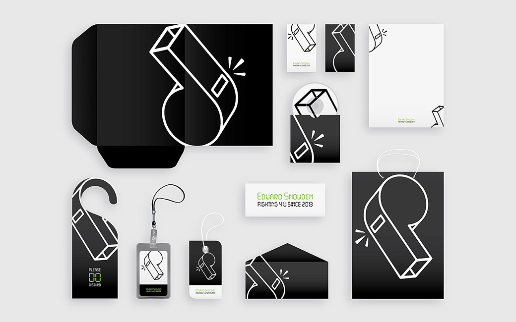Corporate identity for Edward Snowden - the whistleblower and info warrior - MONROE DESIGN AB