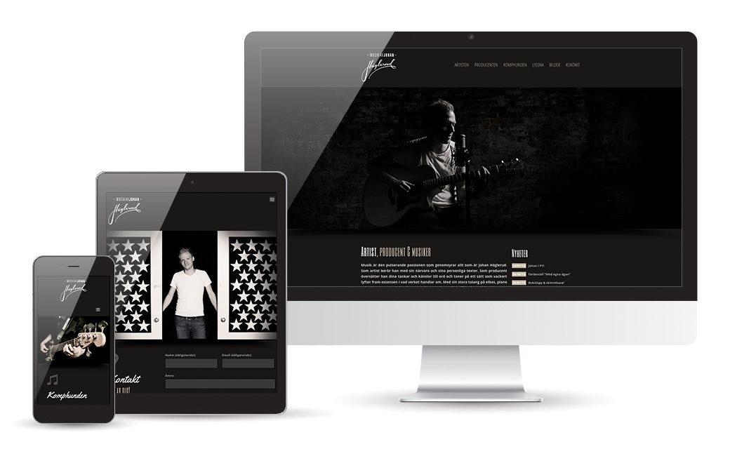 Musiker webbsida - Johan Häglerud - MONROE DESIGN AB