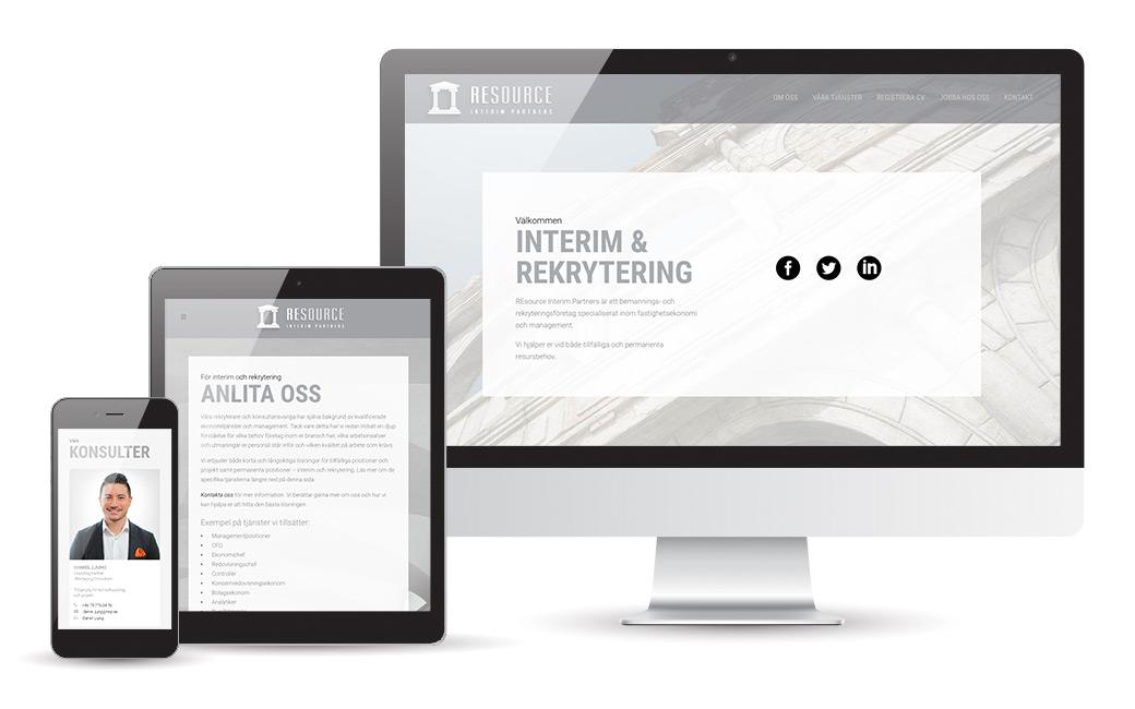 Webbyrå Stockholm - Webbdesign åt bemanningsföretaget REIP - MONROE DESIGN AB