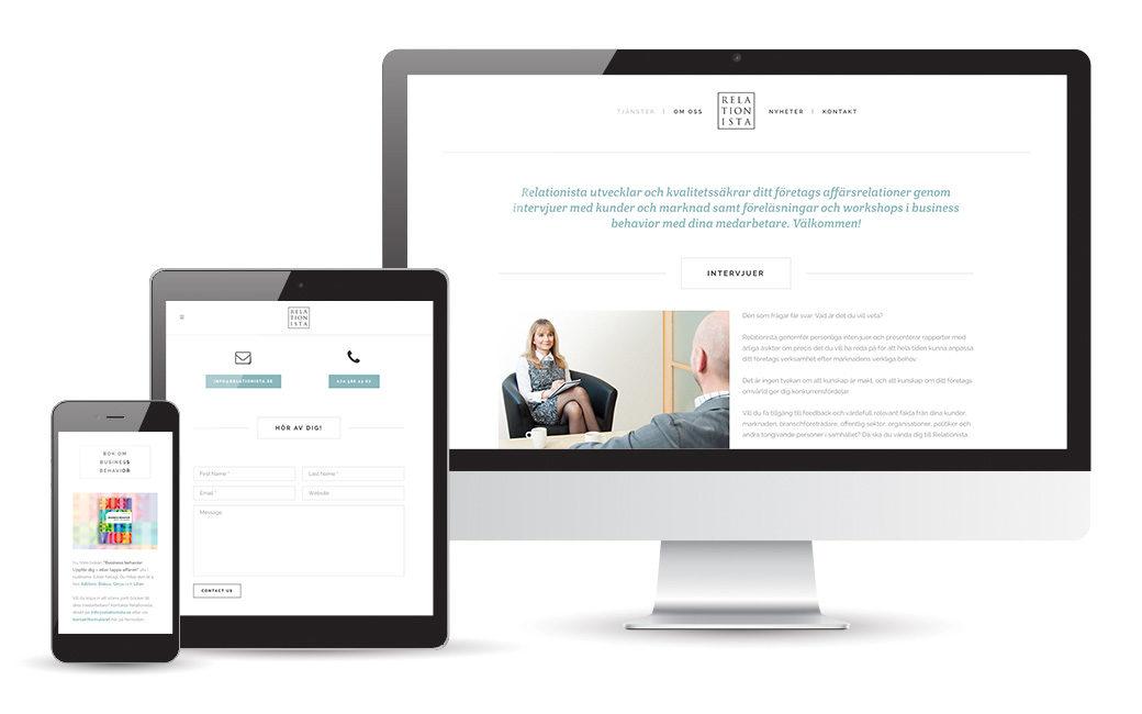 Webbyrå i Stockholm - Relationista webbdesign - MONROE DESIGN AB