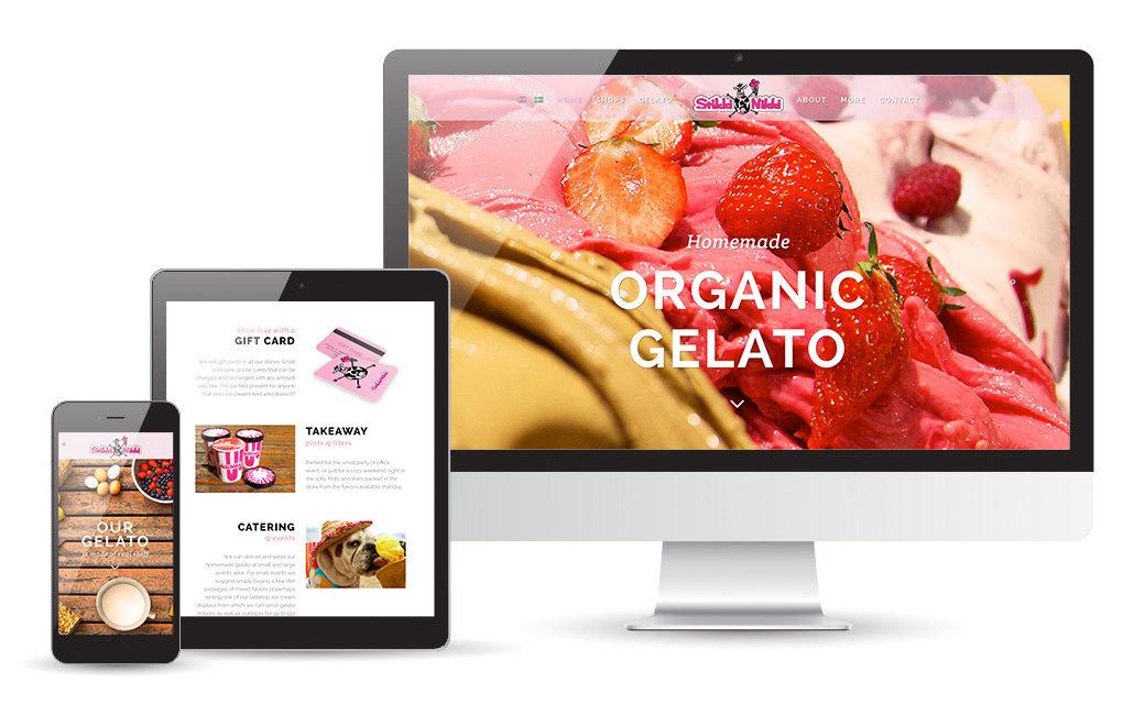 Webbdesign glassbutik - StikkiNikki i Stockholm - MONROE DESIGN AB