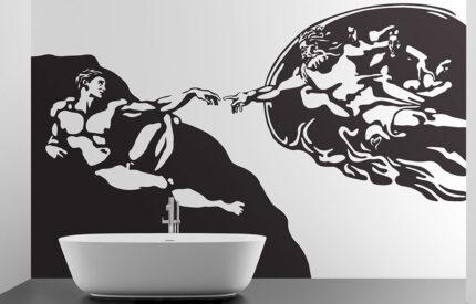 Skapelsen av Michel Angelo väggdekal - MONROE DESIGN