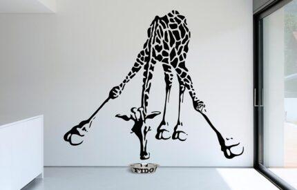 Drickande giraff som väggdekor - MONROE DESIGN