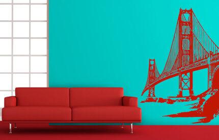 Golden Gate Bron i San Franscisco - väggdekor - MONROE DESIGN