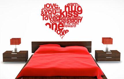 Väggord hjärta om kärlek - MONROE DESIGN