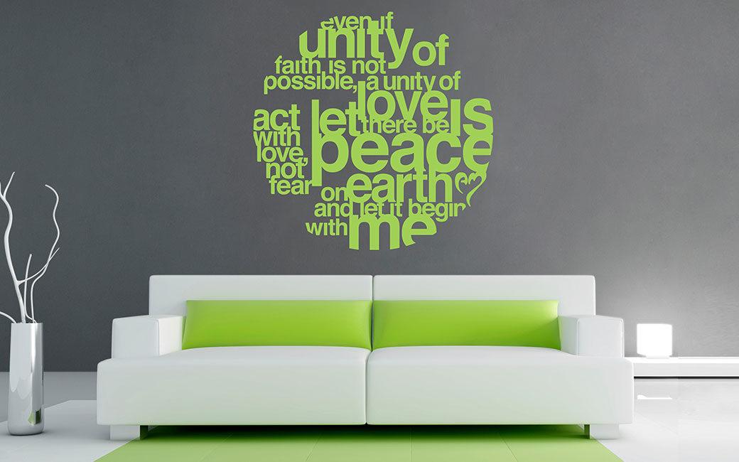 Väggord om fred på jorden - väggdekor - MONROE DESIGN