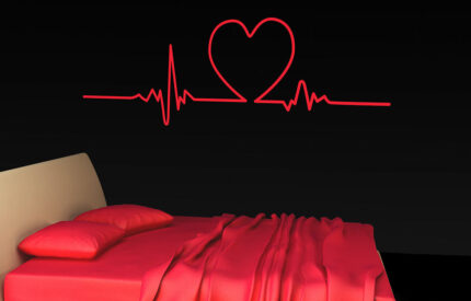 Pulshjärta som EKG - väggdekal - MONROE DESIGN
