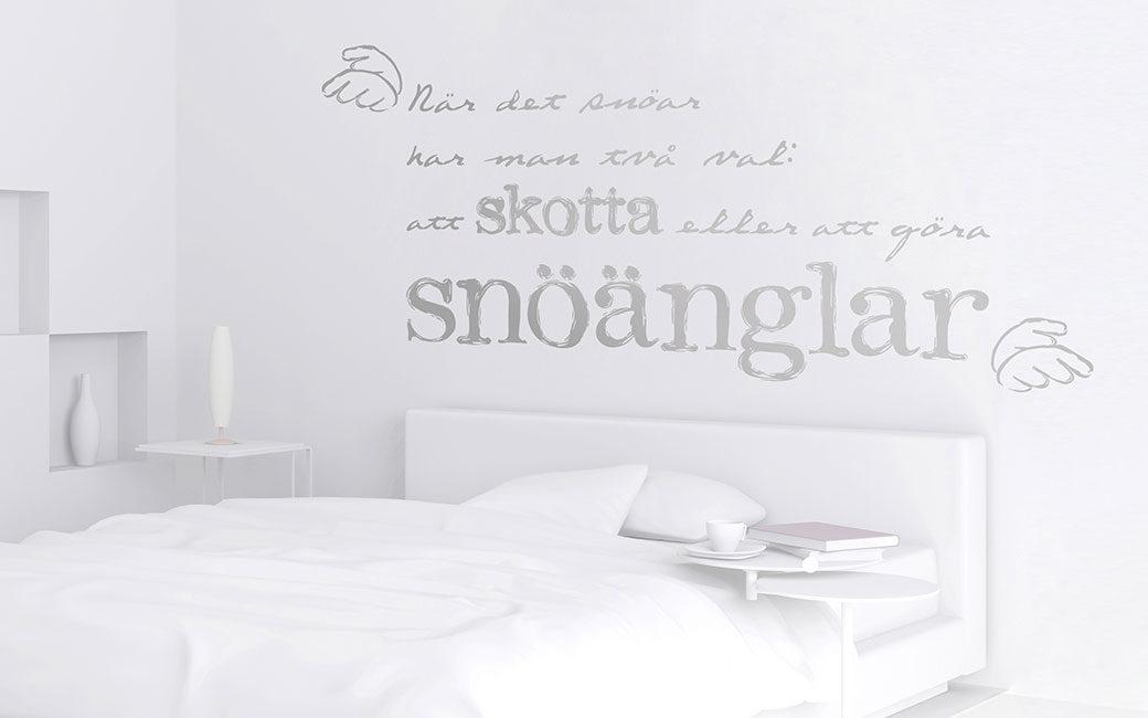 Positivt citat väggord om snöänglar - MONROE DESIGN