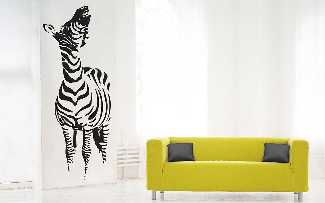 Gnäggande zebra väggdekal - MONROE DESIGN