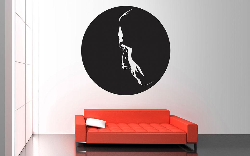 Zlatan porträtt i profil väggdekor - MONROE DESIGN