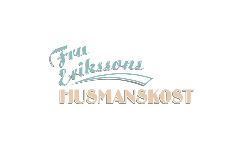 Retro logotyp i Stockholm • Fru Erikssons Husmanskost • MONROE DESIGN AB