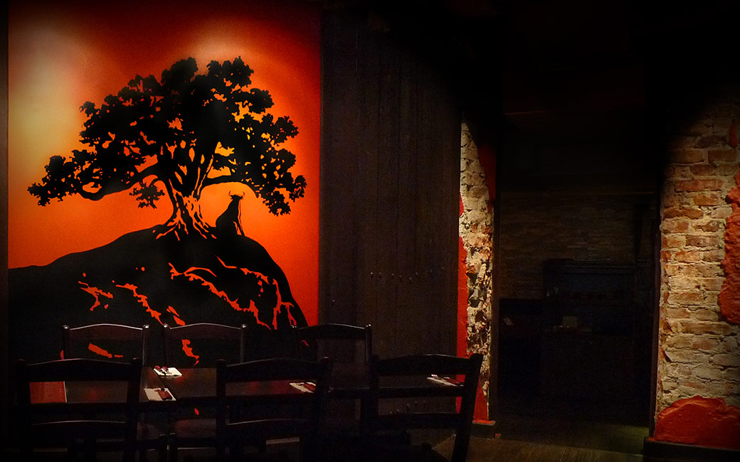 Väggdekor restaurang Stockholm - Aqui Tapas - MONROE DESIGN AB