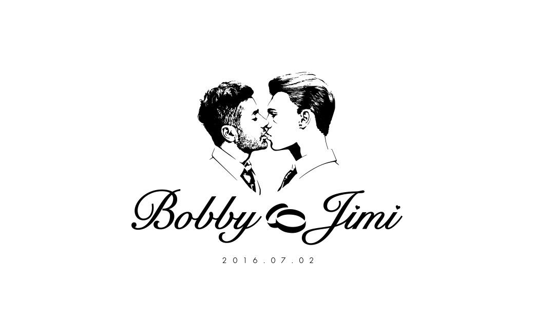 Bröllop logo design åt Bobby Oduncu av MONROE DESIGN AB