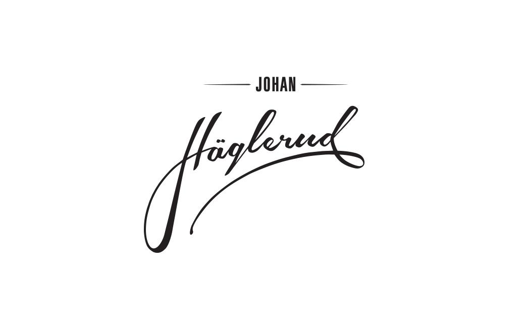 Logotyp design i Stockholm - Johan Häglerud - av MONROE DESIGN AB