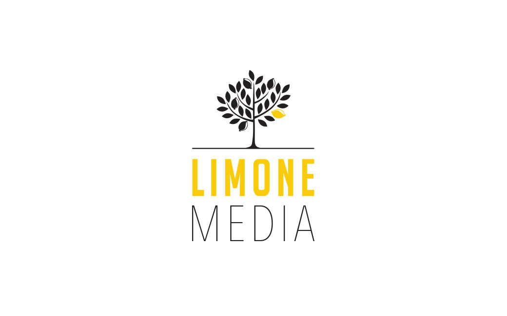 Logotyp design Stockholm - Limone Media bokförlag - MONROE DESIGN AB