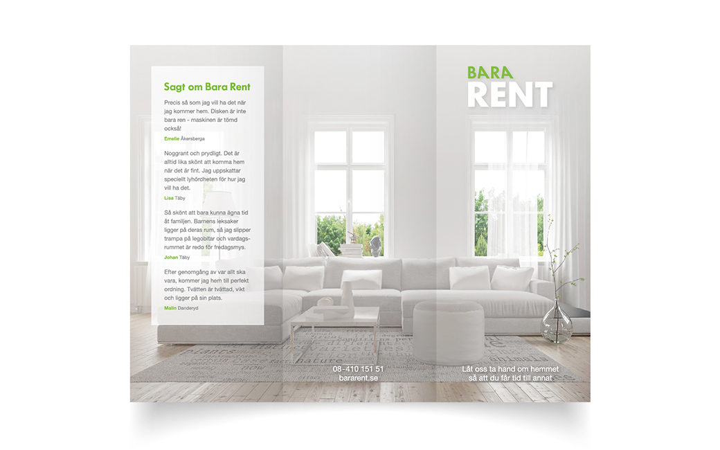 Broschyr design i Stockholm • städfirma • MONROE DESIGN AB