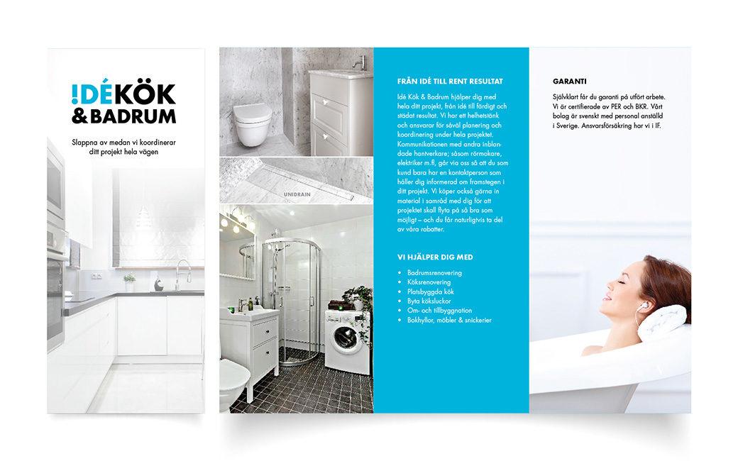 Broschyr design i Stockholm • byggfirma • MONROE DESIGN AB