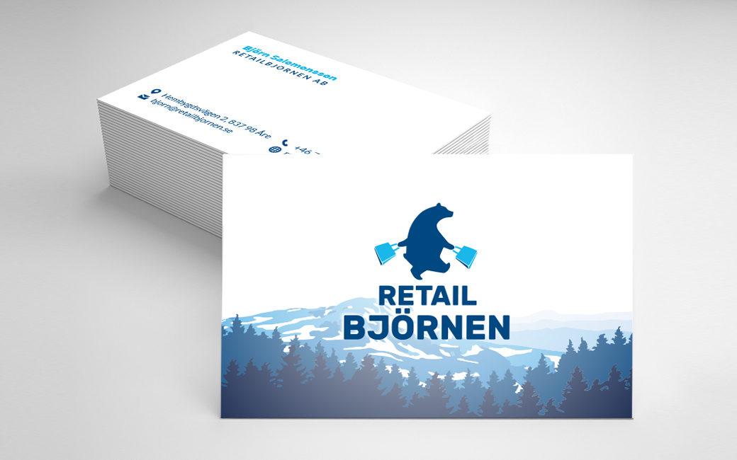 Visitkort design i Stockholm - Retailbjörnen i Åre - MONROE DESIGN