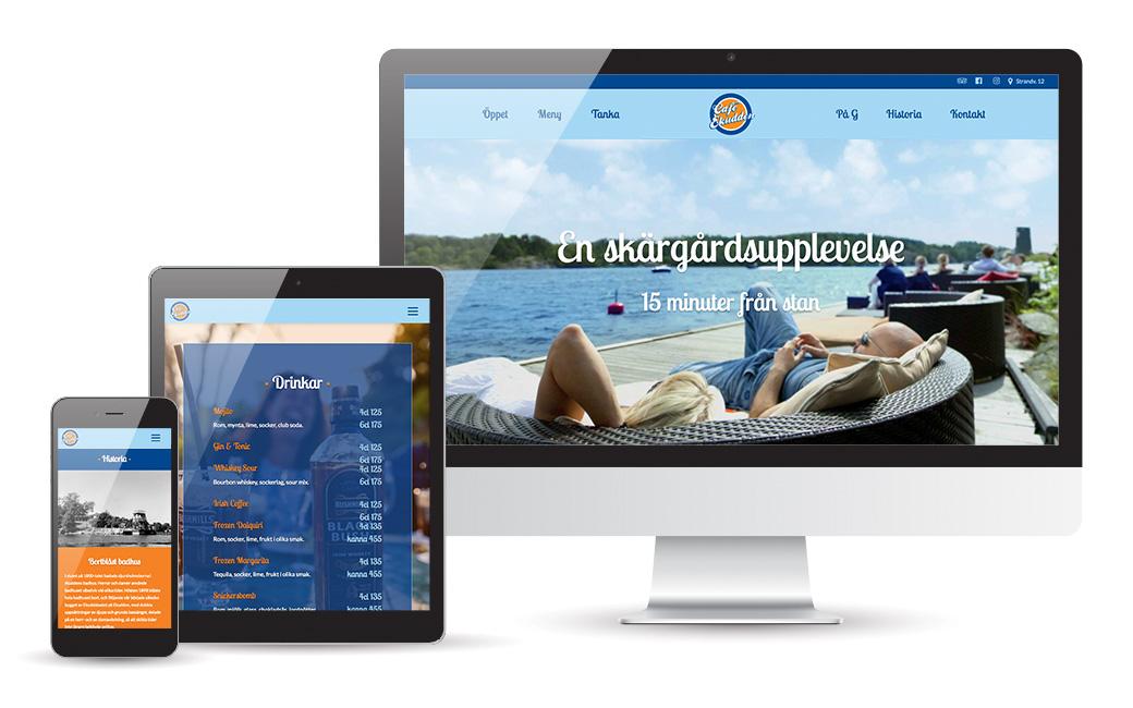 Webbyrå i Stockholm • hemsida Café Ekudden • MONROE DESIGN AB