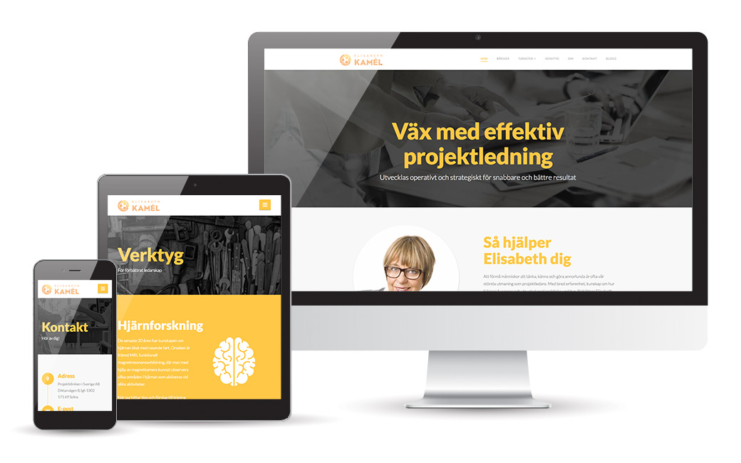 Websida design i Stockholm • Elisabeth Kamél • MONROE DESIGN AB