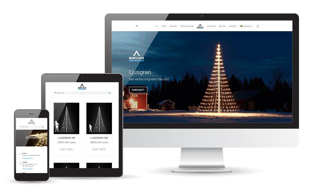 E-handel design Stockholm för Montejaur • MONROE DESIGN AB