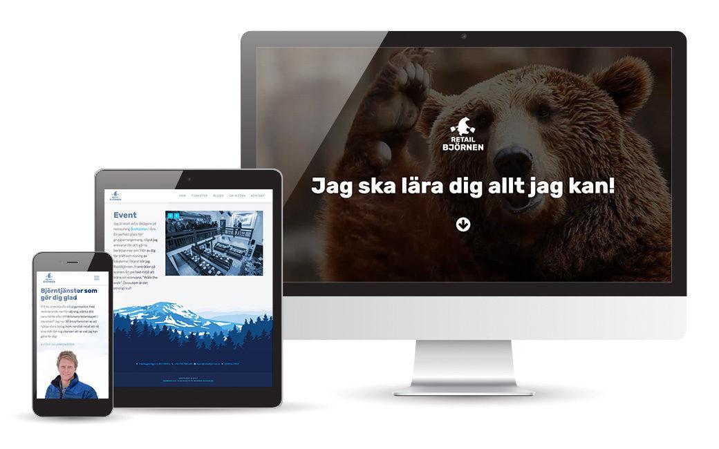 Webbdesign åt Retailbjörnen i Åre • MONROE DESIGN AB